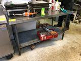 SS Prep Table w/ Undershelf