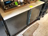 Silver King Cooler/Freezer Work Station w/ Poly Top