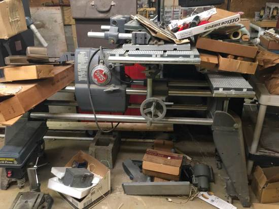 Shopsmith 510R Lathe, Band Saw, Table Saw, Drill Press/horizontal Boring; D