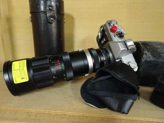 Mamiya Sekor 1000DTL Camera w/Soligor Auto-zoom75mm-260mm, Vivatar 28mm Wid