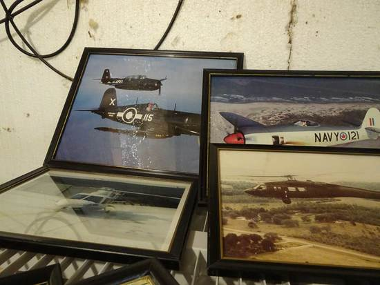 (6) Aviation Photographs incl Helicopters & Vintage War Planes