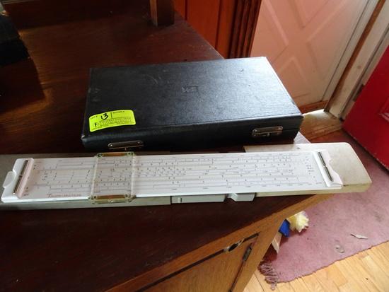 "K&E Drafting Set, Cased; Aristo-Multilog Cased & ""Germany"" Drafting  Compass"