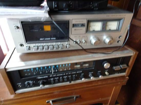 Electronics: Pr AR Speakers, Toshiba Cassette player; Realistic Wide Band R