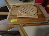 Lot of 7 Wood Cutting boards, 2 Wood Hot plates and Wood Rolling pin