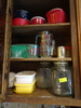 Cupboard Contents incl. Qty. Glass & Plastic Food Storage Containers