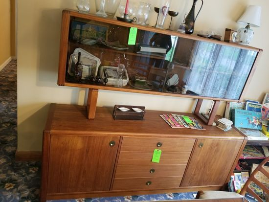 Credenza w/ Display Hutch