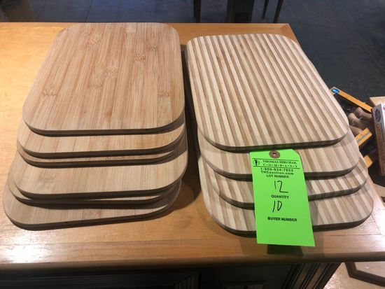 """(10) 12"""" x 9"""" Bamboo Cheese Boards"""