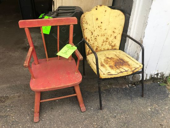 (2) Vintage Childrens Chairs