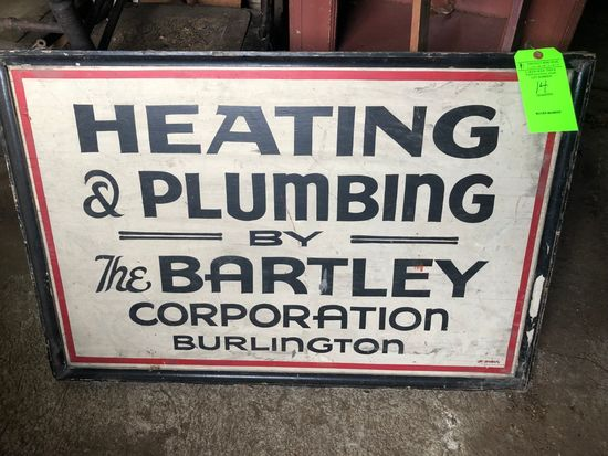 Heating & Plumbing by Bartley Sign