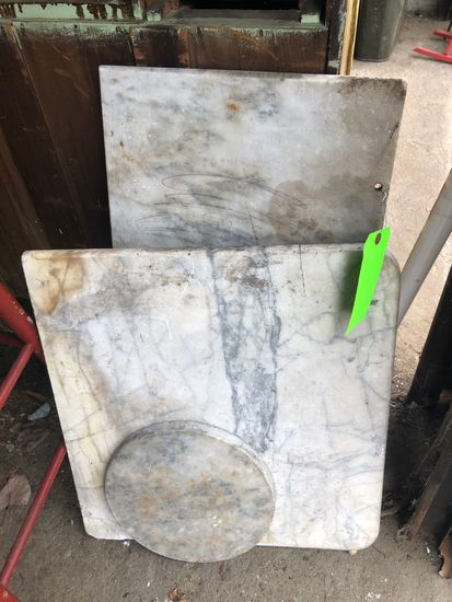 (3) Pieces Marble Shelf