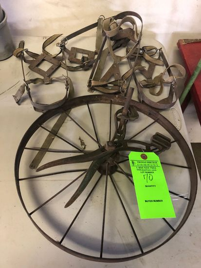 (2) Set of Cramp-on's w/ Old Iron Wheel