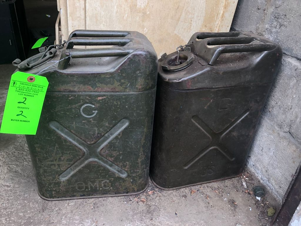(2) US Military Jerry Cans