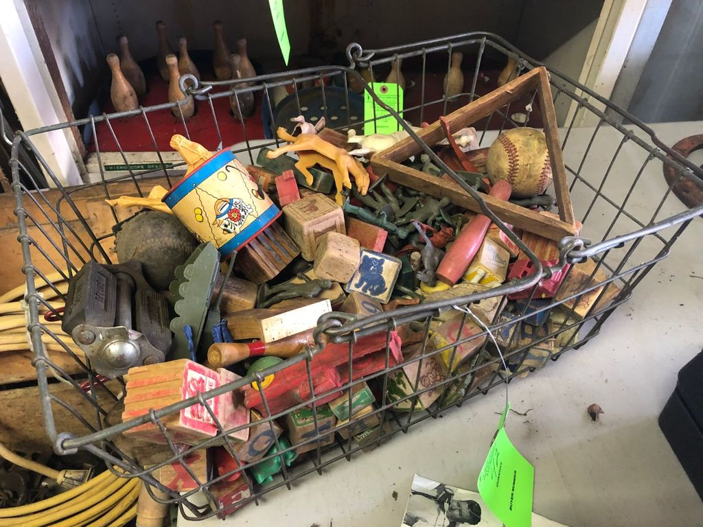 Asst. Children's Toys in Steel basket