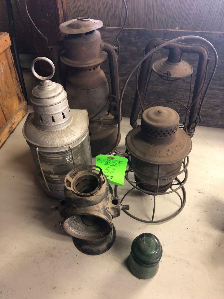 (5) Kerosene & Railroad Lanterns