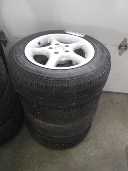 Aluminum rims and tires Unknown
