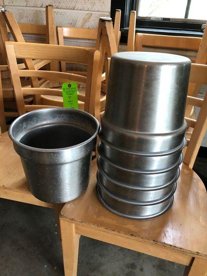 (6) SS 7.25 QT. Vegetable Inset Pot