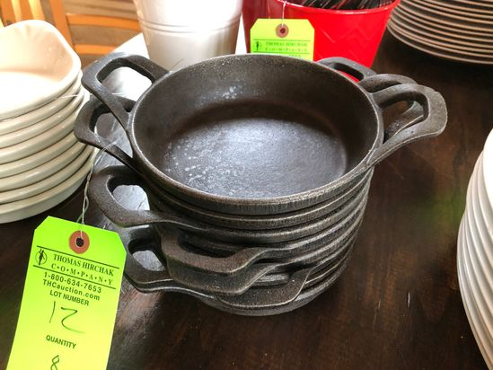 (8) American Metalcraft Round Cast Iron Mini Pot
