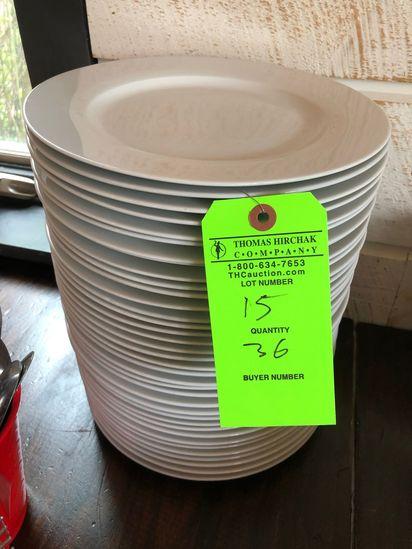 (36) Amazon Basics White China Dinner Plates