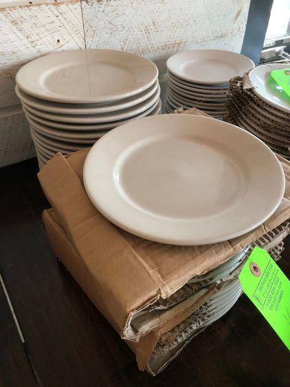 "(28) 9"" White China Bread Plates"