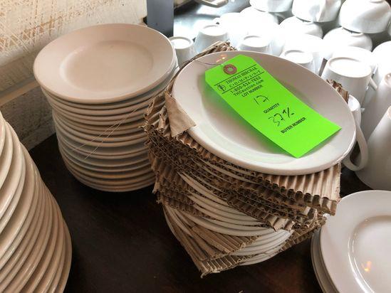 "(37+/-) 7 1/8"" Wide Rim Porcelain Plate"