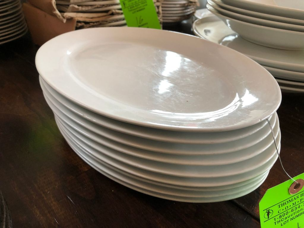 "(9) 12"" Oval Serving Platters"