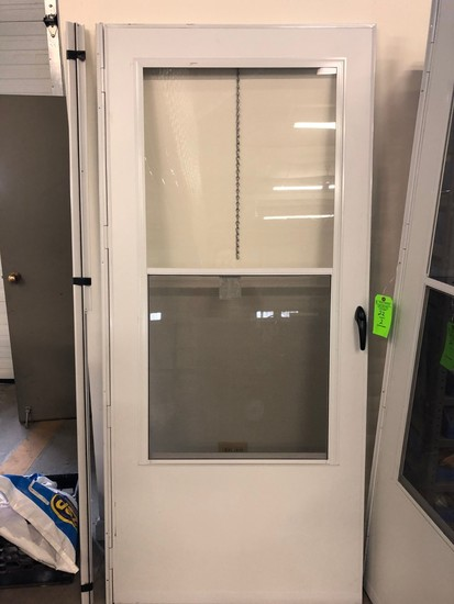 "(2) 36"" Aluminum  Storm Doors w/ 3/4 Glass"