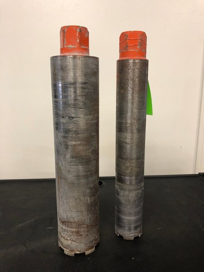 (2) Diamond Core Bits