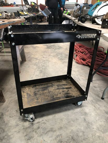 2-Tier Steel Rolling Cart