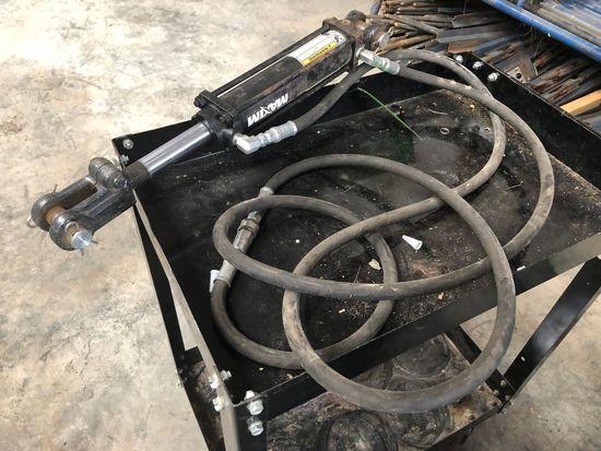 """2500 psi 8"""" Hydraulic Cylinder w/ Hose"""