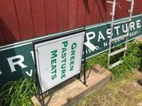 (3) Green Pasture Meats Signs