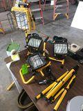 (3) Halogen Work Lights