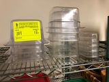 (12) Translucent  Square Food Storage Containers