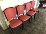 (4) Falcon Wood & Foam Padded Chairs