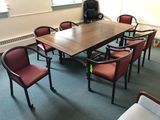 Oak Conference Table w/ (7) Chairs