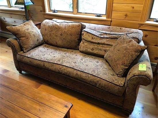 Sofa w/ Paisley Upholstery