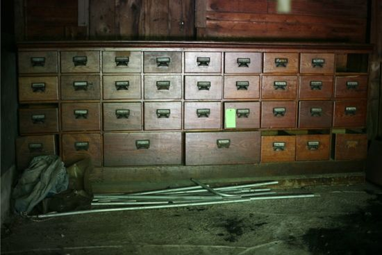 Antique 34-Drawer Pharmacy Cabinet