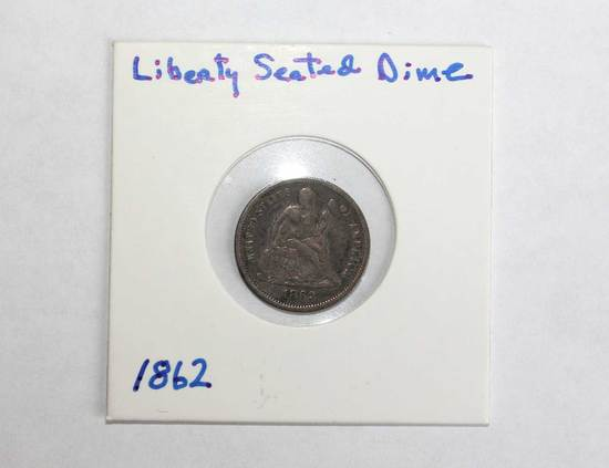 Liberty Seated Dime, silver