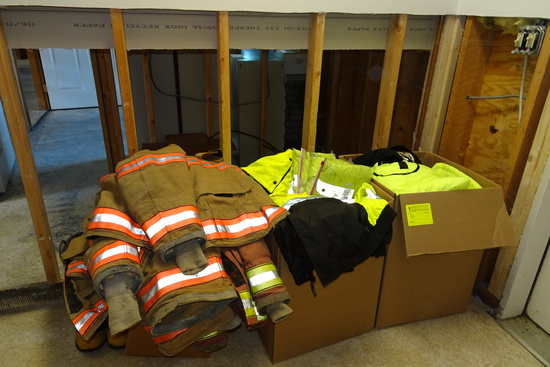 Emergency Responder Outdoor gear: (16) Winter & Fall Coats, some Neon Yello