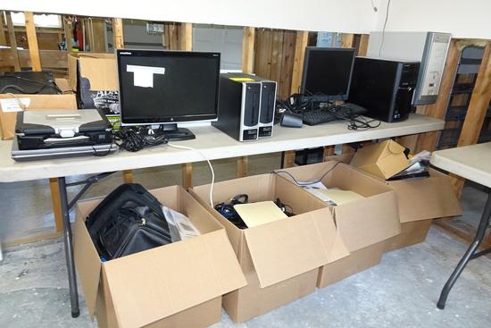 Computer Lot incl Panasonic Toughbook, Brother Printer, HP Printer, Monitor