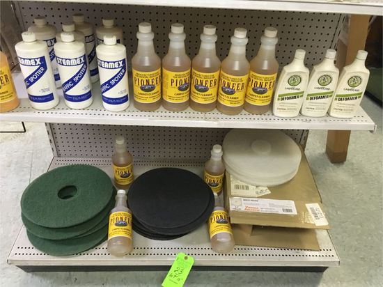Asst. Carpet Cleaning Products & Floor Buffer Pads