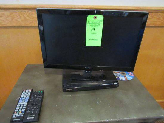 "Samsung 18"" Flat Screen TV W/ DVD Player"