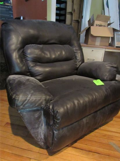 United Furniture Industry Imitation Leather Rocking Recliner