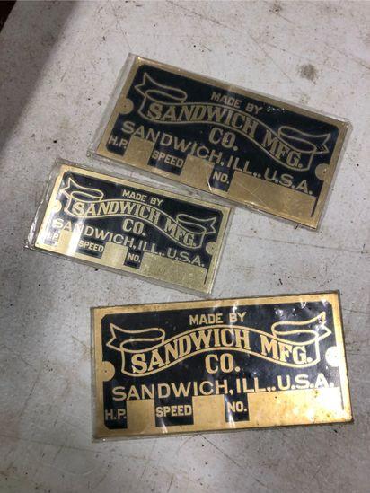 Sandwich MFG. Engine Plates