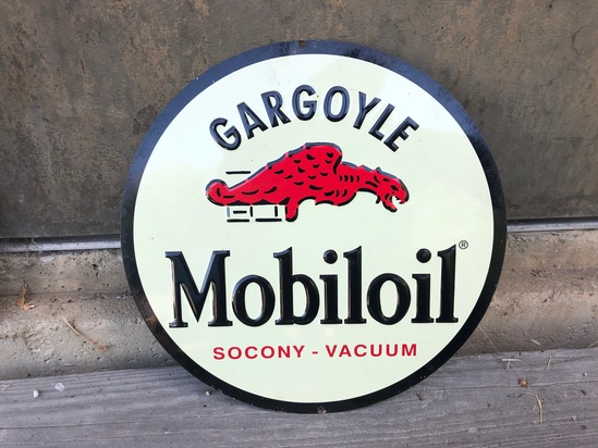 Mobil Oil Round Sign