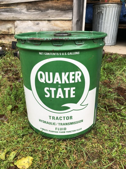 Vintage Quaker State Tractor Hydraullic/Transmission Fluid Can