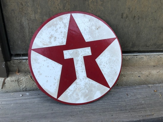 Texaco Round Painted Steel Sign
