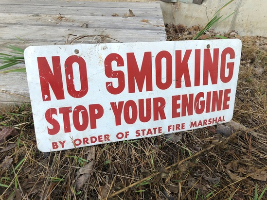 No Smoking Painted Steel Sign