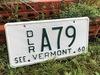 1960 Vermont Dealer License Plate