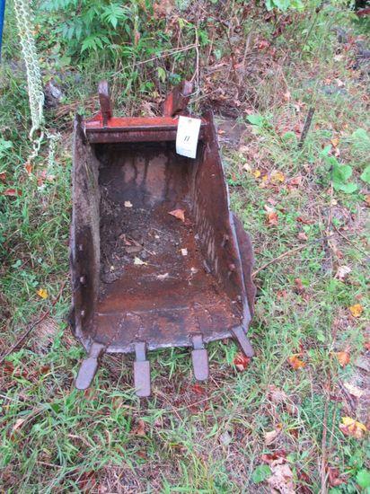 Back Hoe Digging Bucket
