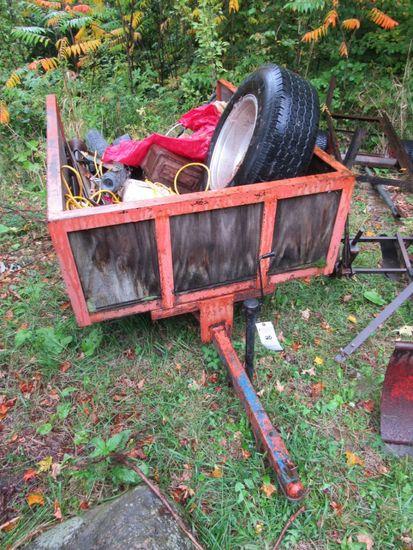 Single Axle Tow Behind Garden Cart